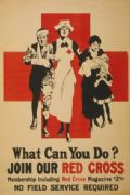 Vintage American Red Cross Poster Appealing for Membership